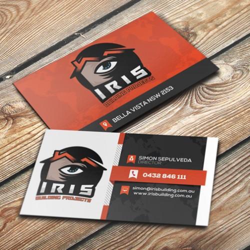 iris-building-business-card-design