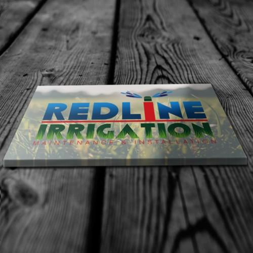 redline-irrigation-business-card-design